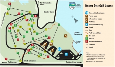 Dexter State Recreation Site Disc Golf Map